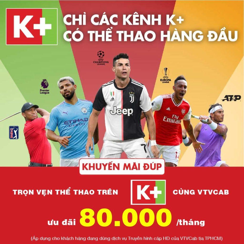 Truyền hình K+ trên VTVCab Tân Bình