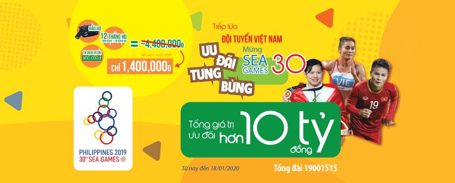 VTVcab ưu đãi tưng bừng tiếp lửa SEA Games 30