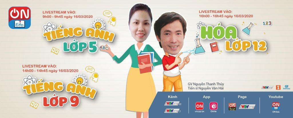 Bắt đầu từ ngày 16/3, VTVcab sản xuất và phát sóng trực tiếp chương trình dạy học ON Edu.