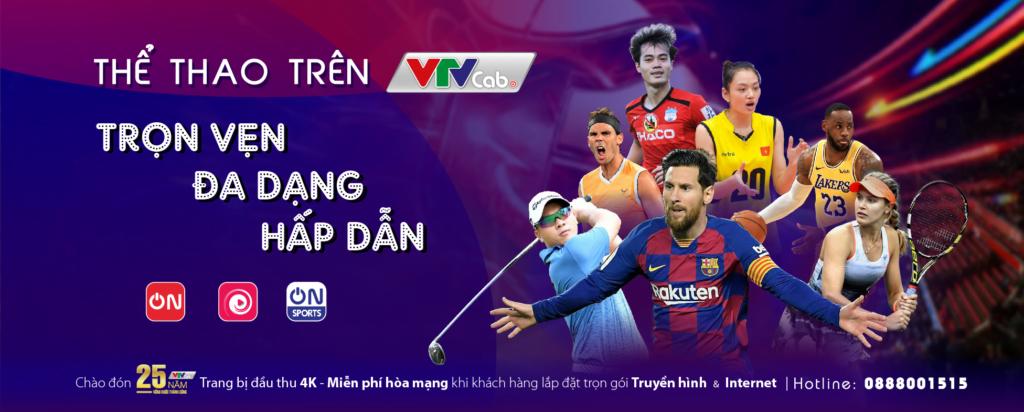 Trọn vẹn thể thao cùng VTVcab