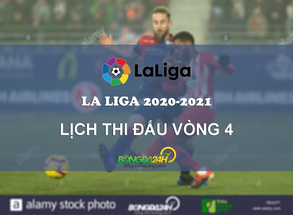 Đón xem vòng 4 giải La Liga 2020/21 trên VTVcab.